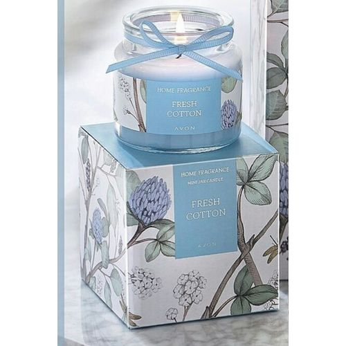 Fresh Cotton Scented Glass Candle