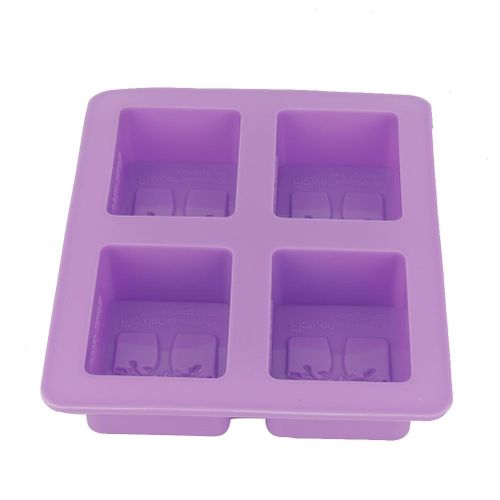 4 Grid DIY Fondant Food Grade Silicone Cake Molds Chocolake Cake Maker Decor Purple