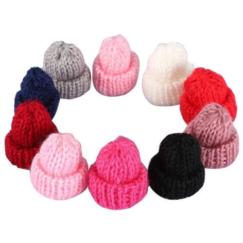 10pcs/pack Mini Wool Hat Adorable Funny Ornaments DIY Decor For Hairpin Earrings Brooches