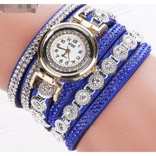 Women Analog Quartz Rhinestone Bracelet Watch