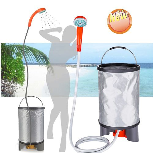 15L Portable Shower Bathing Bag Rechargeable Water Pump Camp