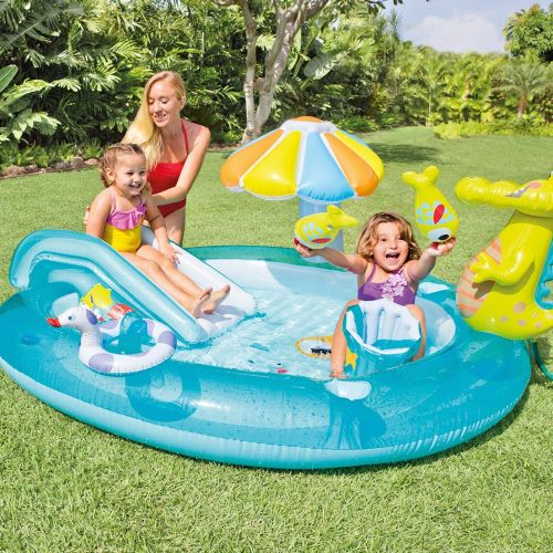 Gator Play Center Inflatable Kiddie Spray Wading Pool