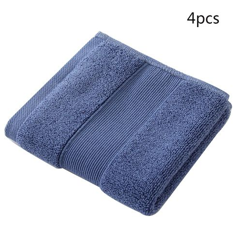 Cotton Bath Shower Towel Thick Towels Home Bathroom Hotel For Adults Kids Dark Blue