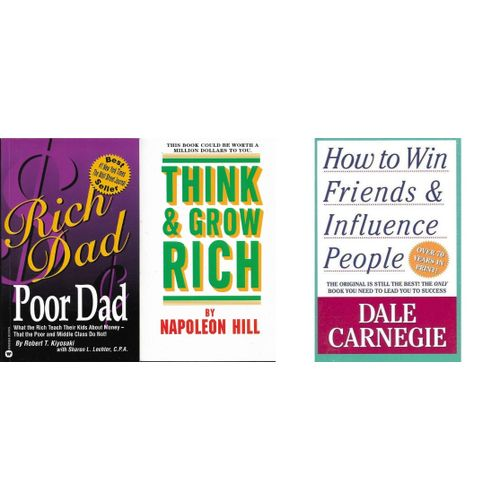 Think & Grow Rich, Rich Dad & How To Win Friends Bundle