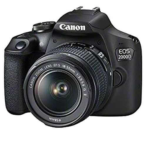 EOS 2000D DSLR Camera With EF-S 18-55 Mm F/3.5-5.6 IS II Lens - Black