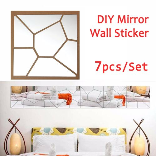 3D Acrylic Modern Mirror Decal Art Mural Wall Sticker