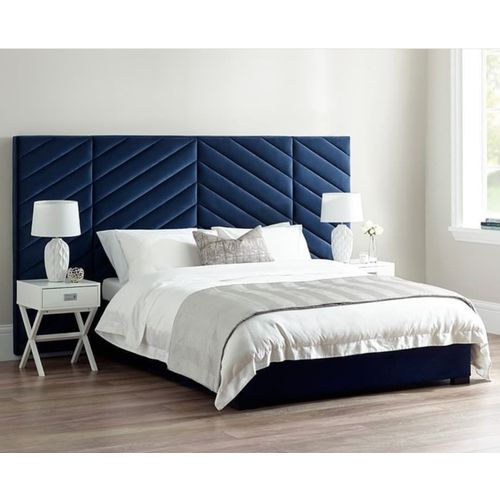 Denzelton 6by6/ 6by7 Ft Bedframe With White Bedsides
