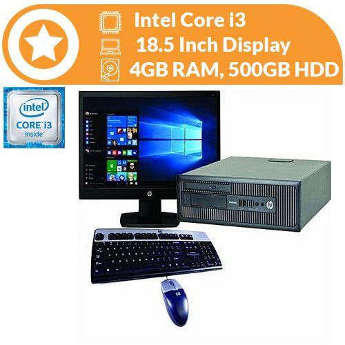 Prodesk 600 Sff - Intel Core I3 - 4GB RAM - 500GB HDD - Windows 10 Pro & Office 2016 Preloaded
