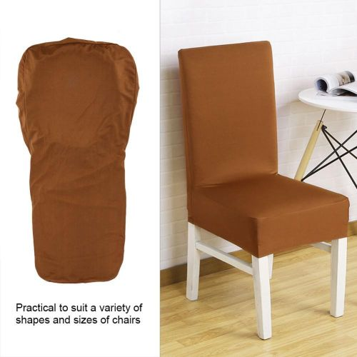 Half-cover Pure Color Chair Cover Strong Elastic Removable Hotel Banquet Decor