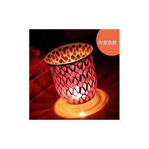 Morocan Mosaic Colored Glass Wind Light Tealight Candle Tealight Holder Decor