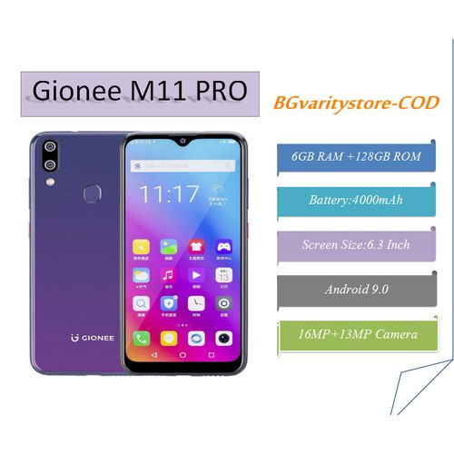 Gionee M11 Pro, 6.3 Inch FHD Android 9.0