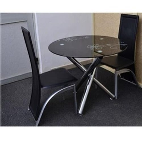 Dinning Table + 2 Chairs- Black