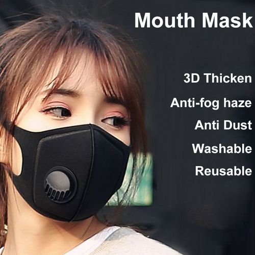 PM2.5mouth Mask Anti Dust Mask Activated Carbon Filter Windproof Mouth-muffle Bacteria Proof Flu Face Masks Care