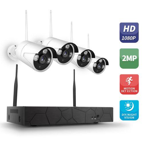 Wireless NVR Kit Security CCTV Surveillance System WIFI