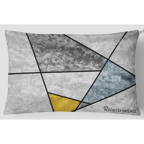 30x50cm Nordic Style Geometry Marble Rectangular Cushions