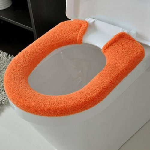 Fenhehu Bathroom Toilet Seat Closestool Washable Soft Thicken Warmer Mat Cover Pad