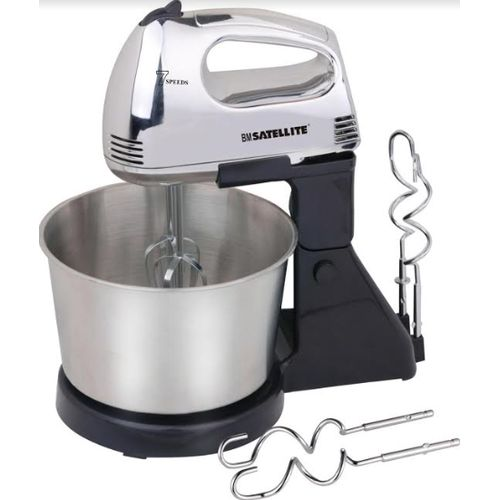 2L HAND MIXER WITH STEEL BOWL 7 SPEED SETTINGS, 200 WATTS