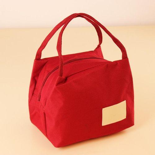 KCASA KC-LG013 Waterproof Oxford Lunch Tote Bag Fashion Travel Picnic Food Storage Organizer # Red