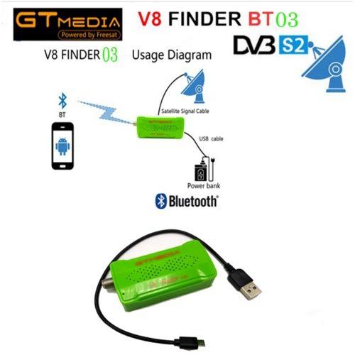 GTMEDIA V8 Finder BT03 1080p SatFinder Vs FREESAT V8 Finder BT01 DVB-S2 Bluetooth Control Via Android I Phone For Hd Signal