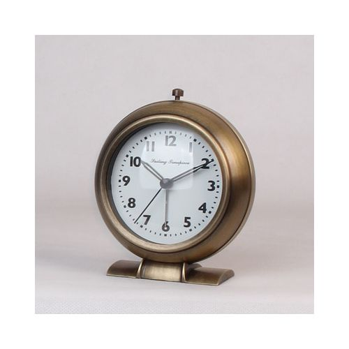 Copper Bell Mute Table Clock Creative Alarm Clock