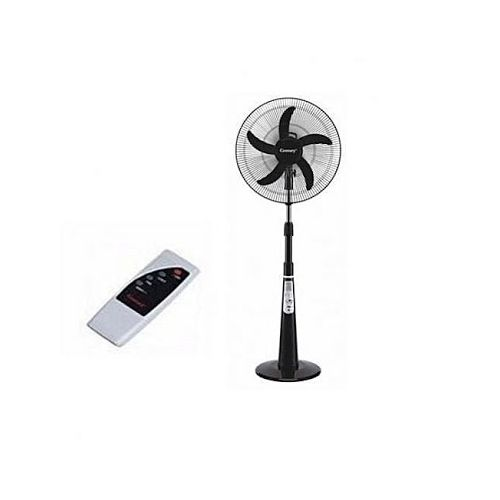 "16"" Rechargeable Fan With Remote + USB Port + Solar Support + 5Blades"