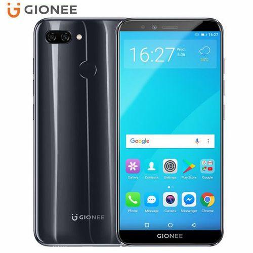 S11 Lite 5.7-Inch HD (4GB,64GB ROM) Android 7.1 (13MP + 2MP) + 16MP Dual SIM 4G LTE Fingerprint ID Smartphone - Black