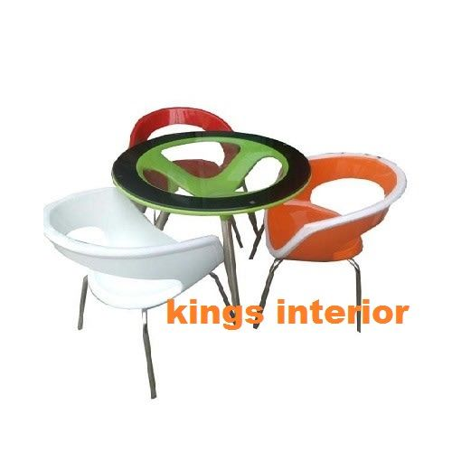 Oxford Glass Round Dinning With 3 Chairs