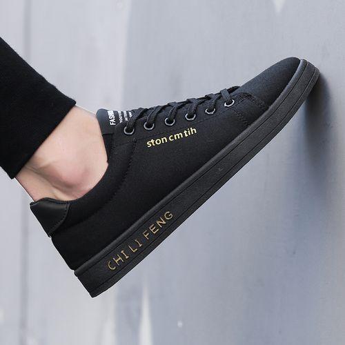 Men's Flat Casual Shoes-Black