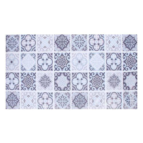 Grey Moroccan Tile Floor Stickers Waterproof Anti-slip Home Decal 60*120cm