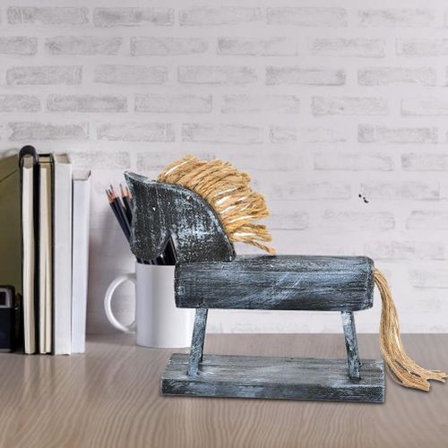 Europe Style Wood Horse Model Animal Figurine Handcraft Home Office Desk Decoration
