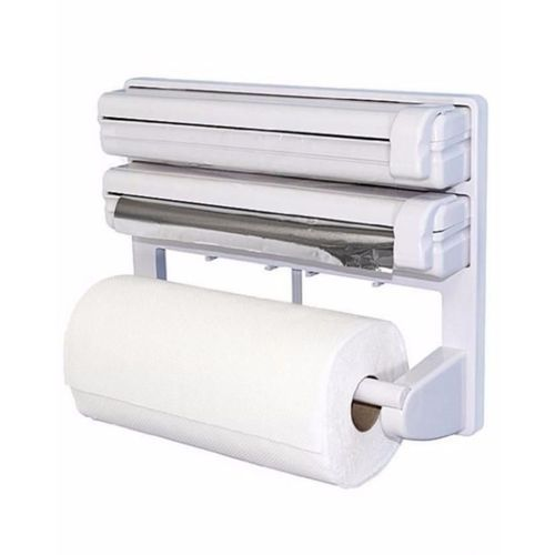 3-in-1) Tripple Cling Film/Aluminium Foil/Tissue Dispenser