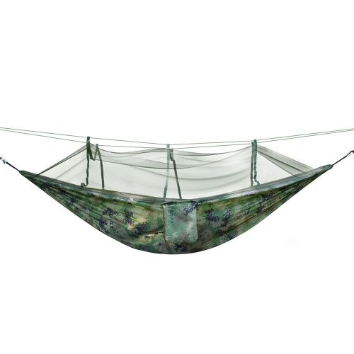 Portable Outdoor Camping Hammock Swing Sleeping Hanging Bed With Mosquito Mesh Camouflage