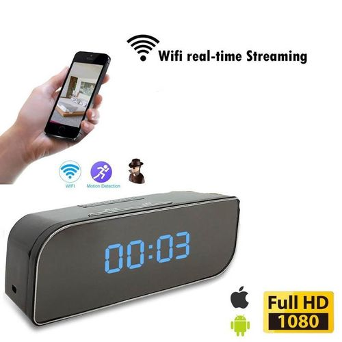 Mini Clock Camera,Hidden Camera In Clock WiFi Hidden Cameras 1080P Video Recorder Wireless IP Camera For Indoor Home Security Monitoring Nanny Cam Night Vision Motion Detection By HT