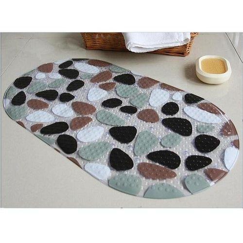 Creative Cobblestone Pattern PVC Bathroom Anti Slip Mats Toilet Floor Rugs