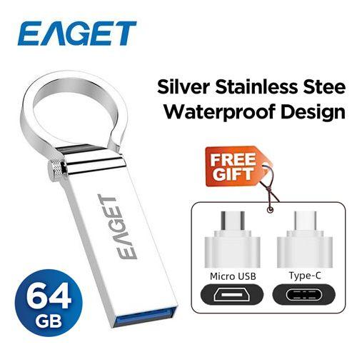 U96 Pen Drive 3.0- 64GB - Metal OTG USB Flash Drive