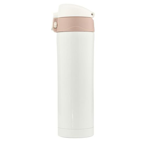 500mL Travel Mug Tea Coffee Water Vacuum Cup Bottle Stainless Steel Thermos Cup[White]