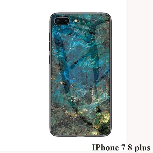 Case For IPhone 7 8 Plus Marble Tempered Glass Back Casing