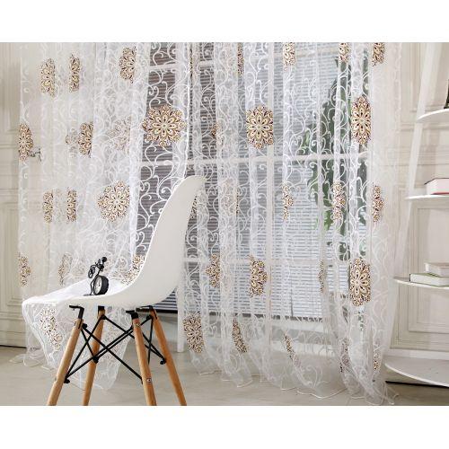 Bioaldla Store Tulle Window Curtain Voile Drape Sheer Scarf Valances
