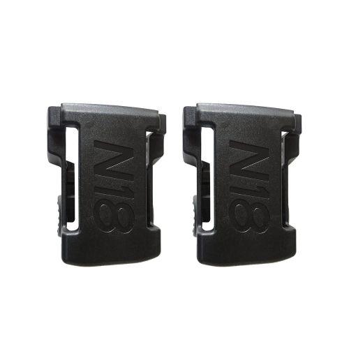 2PCS Battery Mounts For M18 48-11-1850 Storage Shelf Rack Stand Holder Slots Black