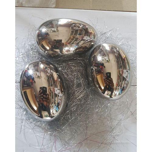 Silver Decorative Ceramic Eggs