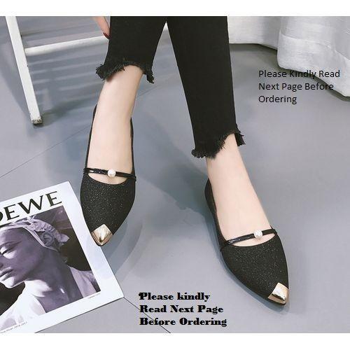 Women's Femme Classy Pointer Ballerina Shoes - Blackk