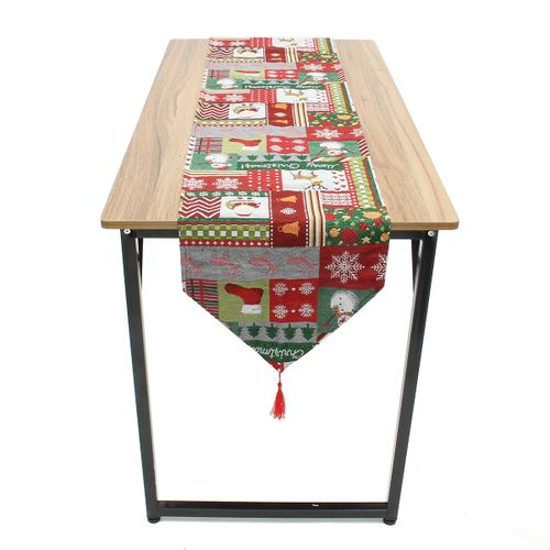 Christmas Table Runner Placemat Xmas Desk Tablecloth Cover Party Home Decor