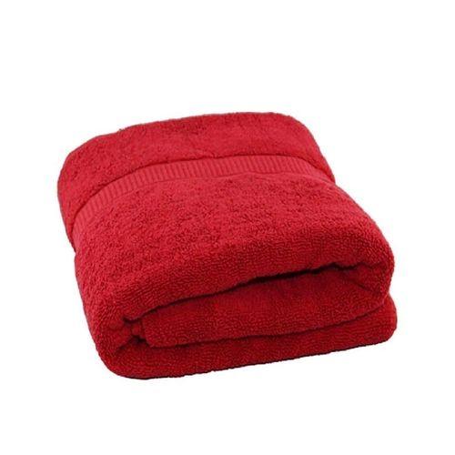 Unique And Soft Large Bath Towel - Red