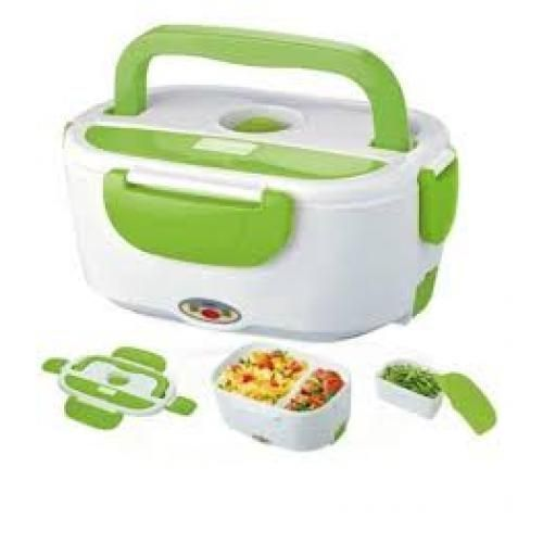 Electric Lunch Box/Food Flask (Plug And Warm) - Green