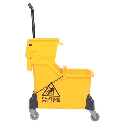 42L Mop Bucket Wringer Como Mini Side Press W/ Caster Wheels