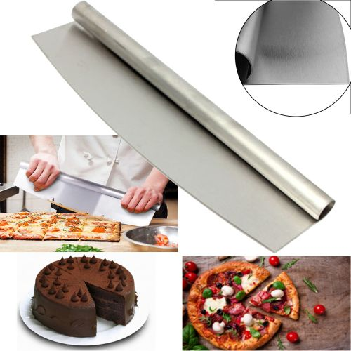Watermalend Stainless Steel Pizza Cutter 12 Inch Blade Rocker Style Professional Slicer