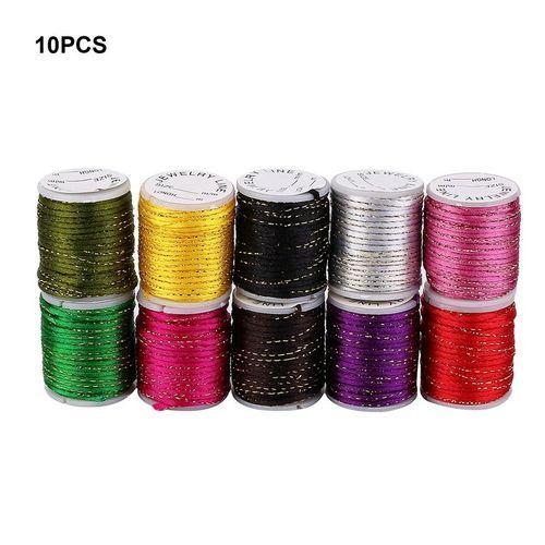 DIY Woven Elastic Wax /Copper/Velvet Ropes Jade/Silk Thread/ Fish Silk Thread Multicolor