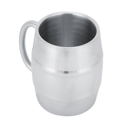 Household Stainless Steel Double Layer Mug Coffee Beer Cup Wine Drinking Glass