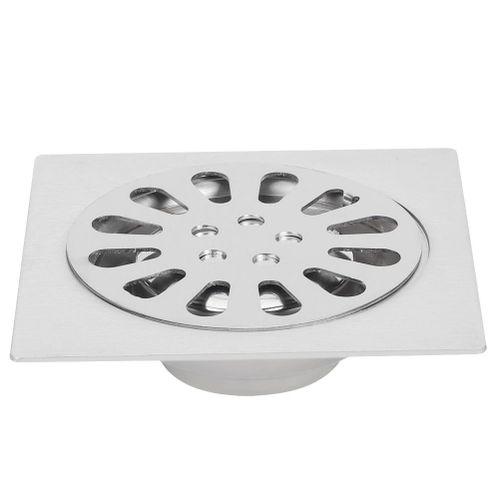 Shower Drain, Floor Drain, Bathroom Zinc Alloy Single Shower Deodorant Floor Drain Brass Drain Cover