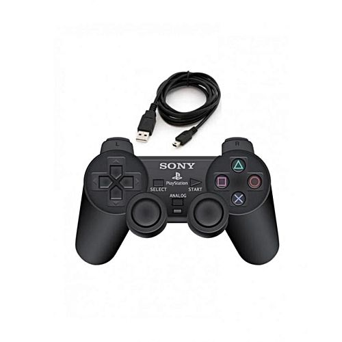 Playstation DualShock PS3 Wireless Pad + Cable- Black